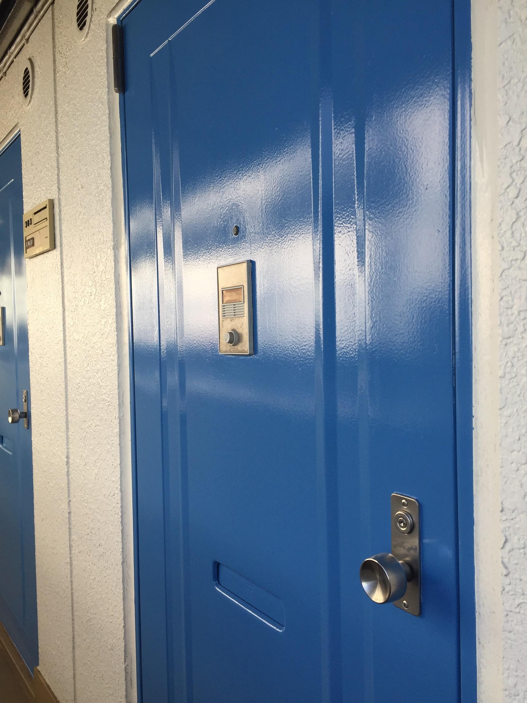 施工後 鉄部塗装 玄関ドア